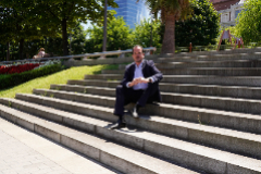 El candidato del PP+Cs a presidente del País Vasco, Carlos Iturgaiz, en un momento de la entrevista, en Bilbao.