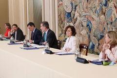 Reunión del Consejo de Seguridad Nacional. Con Pablo Igleisas. / EFE