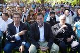 De izqda. a dcha., Alberto Núñez Feijóo, Mariano Rajoy y Manuel Fraga, en 2009.