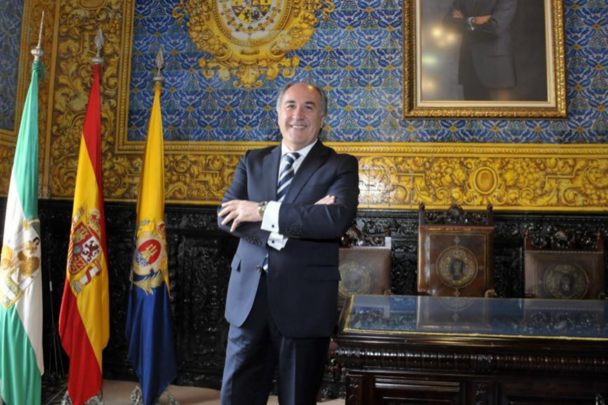 El alcalde de Algeciras, José Ignacio Landaluce (PP), en el Ayuntamiento.
