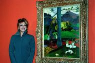 La baronesa Thyseen, junto a Mata Mua, en 1999.