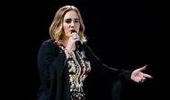 Adele en el festival de Glastonbury en 2016.