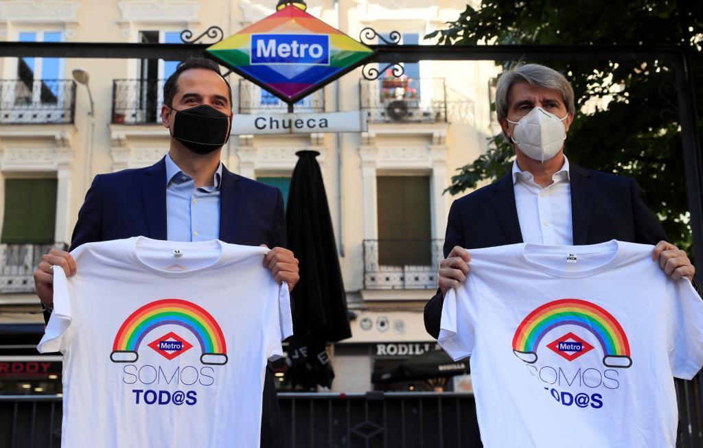 El vicepresidente Aguado y el consejero Garrido, este lunes.