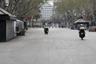 Mossos patrullando en Barcelona.