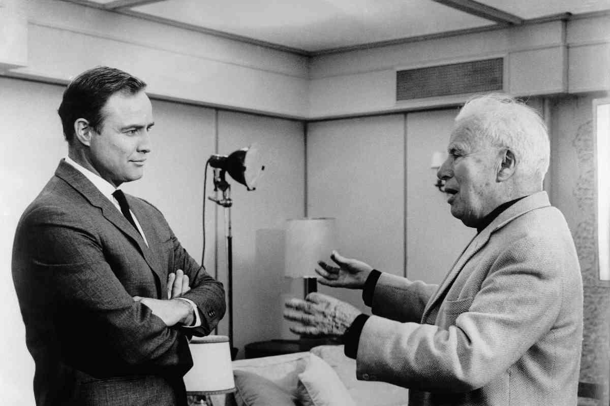 Marlon Brando y Charles Chaplin, en los años 60.
