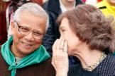 La estrecha amistad de la Reina Sofía con el banquero Muhammad Yunus