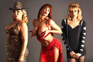La Veneno, en el centro, en una imagen promocional de la serie de AtresPlayer.
