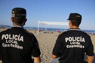 La Policía Local de Castellón desplegó un dispositivo de vigilancia en la noche de San Juan