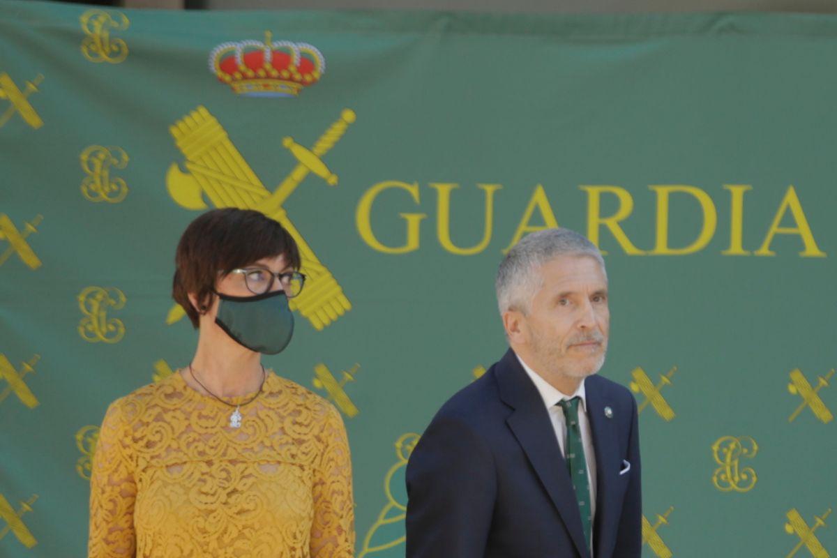 El ministro Marlaska en un acto sobre los nuevos nombramientos de la Guardia Civil.
