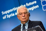 El Alto Representante de Exteriores de la Unión Europea, Josep Borrell, este martes en Bruselas.