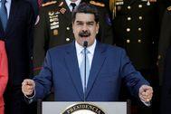 Venezuela's President Nicolas lt;HIT gt;Maduro lt;/HIT gt; speaks during a news conference at Miraflores Palace in Caracas, Venezuela, March 12, 2020. REUTERS/Manaure Quintero - RC2HIF9VVJ4U