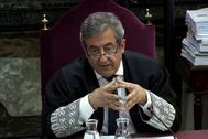 El fiscal Javier Zaragoza durante el juicio del 'procés'.