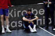 GRAFCVA6459. VALENCIA.- El ala pívot montenegrino del Barça, Nikola lt;HIT gt;Mirotic lt;/HIT gt;, tras la final de la Liga Endesa en la que se ha impuesto el Kirolbet Baskonia.
