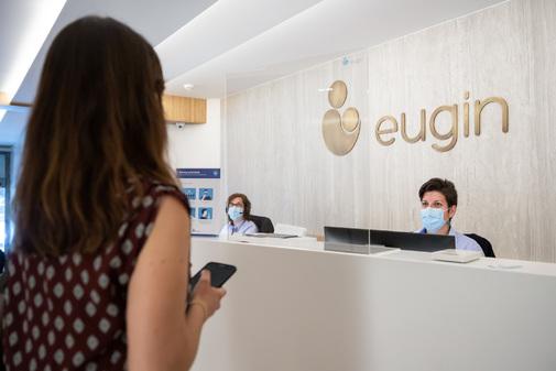 Recepción de la clínica Eugin