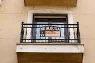 Pisos en alquiler en un barrio en el centro de Madrid.