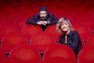 Antonio Banderas y María Casado, en la presentación de su productora de televisión