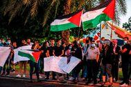 Manifestación contra la anexión israelí de parte de Cisjordania.