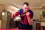 Jasikevicius, en una foto compartida por el Barça.