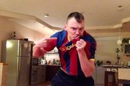 Jasikevicius, en una imagen compartida por el Barça
