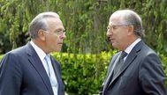El presidente de la Fundación Bancaria la Caixa, Isidro Fainé y el de Repsol, Antonio Brufau, en una imagen de 2014.
