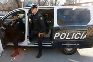 Agentes de la Policía Nacional en una operación en Madrid.
