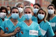 Sanitarias reclaman mejores condiciones en Niza.