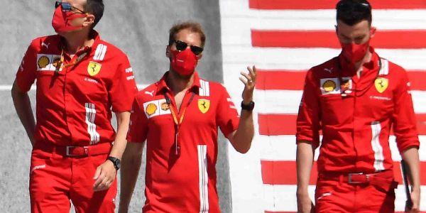 Vettel, el jueves, reconociendo el Red Bull Ring.