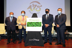 Presentación de las Carreras de Caballos de Sanlúcar, con Rafael Hidalgo, Antonio Pulido, Juan Marín, y Paco Pérez Valencia.