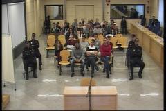 Fotograma de una de las sesiones del juicio por la agresión a dos guardias civiles y sus parejas en Alsasua en 2016.