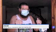 El supuesto paciente 'cero' del brote de Castellón responde a las preguntas de una reportera del'Telediario'.