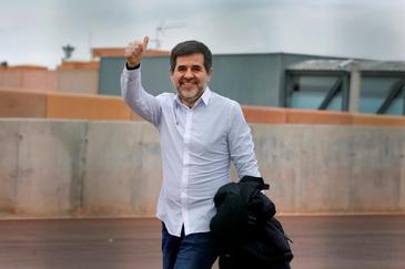El condenado en el juicio del 1-O Jordi Sànchez, en su prmera salida de prisión el pasado mes de enero.