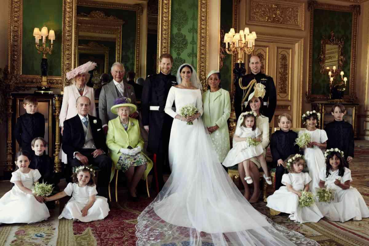 Una de las fotos oficiales distribuidas por Buckingham de la boda de Markle y el príncipe Harry.
