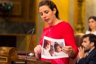Rocío de Meer durante una intervención en el Congreso.
