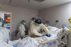Unidad para pacientes con coronavirus en Houston (Texas).