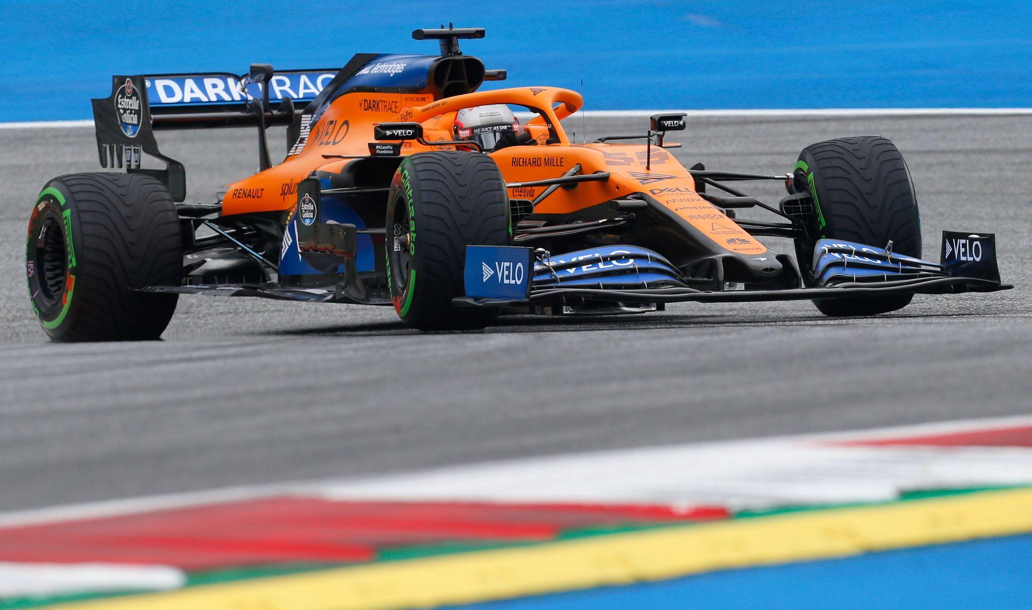 Doblete de Mercedes, alerón roto para Sainz y malas sensaciones de Ferrari