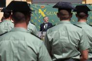 El ministro del Interior, Fernando Grande-Marlaska, en un acto de le Guardia Civil celebrado el miércoles en Madrid.