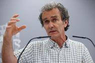 Fernando Simón, durante una rueda de prensa.