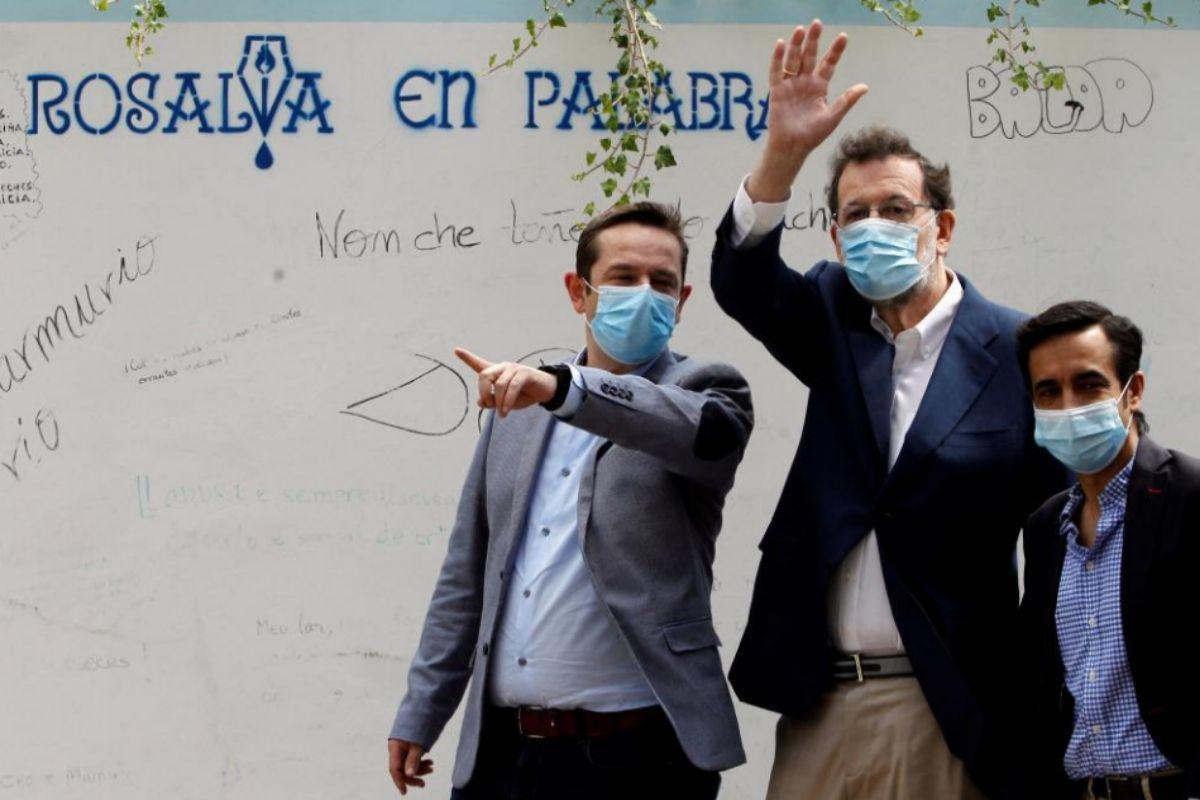 Mariano Rajoy, durante un acto del PP en Mugardos (A Coruña).