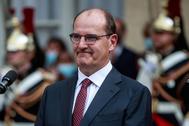Jean Castex, nuevo primer ministro francés, esta tarde.