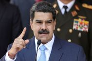 FILE PHOTO: Venezuela's President lt;HIT gt;Maduro lt;/HIT gt; holds a news conference at Miraflores Palace in Caracas
