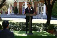 Pedro Sánchez, durante la firma del Pacto por la Reactivación Económica y el Empleo.