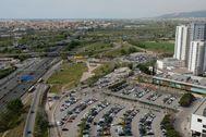 La C-31 a su paso por L'Hospitalet de Llobregat.