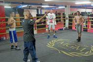 Imagen de archivo de uno de los combates de boxeo que se celebraron en el gimnasio MTKMarbella ahora cerrado.