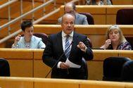 El ministro de Justicia, Juan Carlos Campo, en una comparecencia el 30 de junio en la sesión de control en el Pleno del Senado en Madrid.