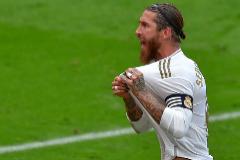 Ramos celebra su gol ante el Athletic.