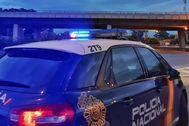 Un coche patrulla del Cuerpo Nacional de Policía.
