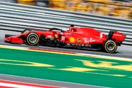 El SF1000 de Vettel, el domingo en el Red Bull Ring.