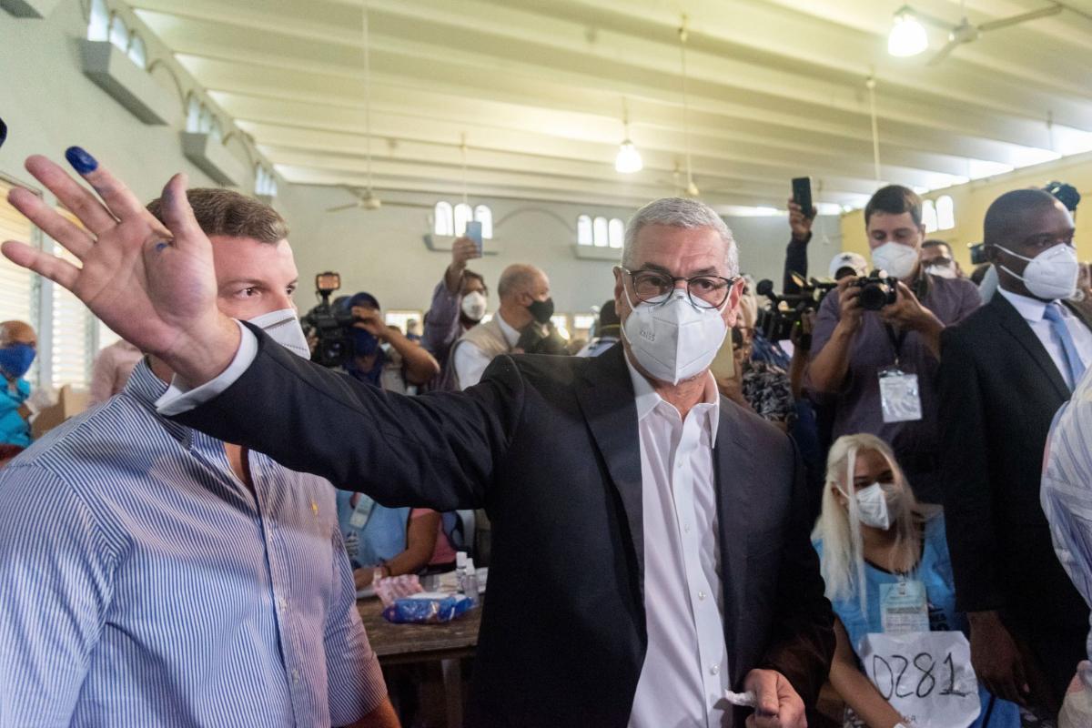 Gonzalo Castillo, candidato presidencial del oficialista Partido de la Liberación, este domingo en las elecciones.
