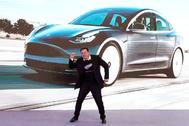Elon Musk, CEO de Tesla, durante una presentación en Shanghai este año
