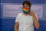 Teresa Rodríguez, portavoz de Adelante Andalucía, en el Parlamento.